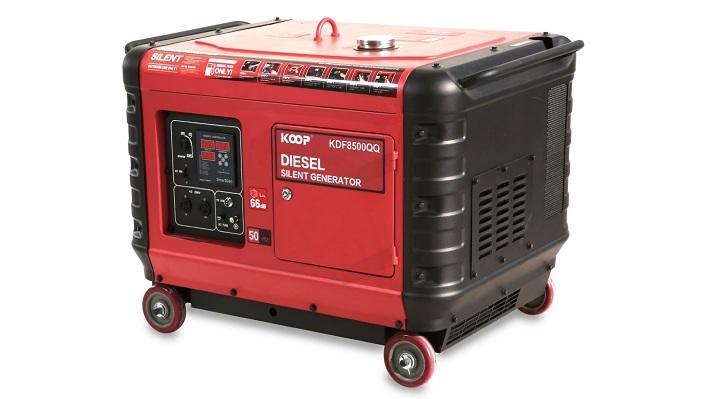 Máy phát điện chạy dầu Koop 8500QQ được thiết kế 2 lớp chống ồn.