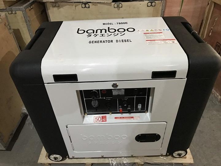 Máy phát điện chạy dầu chống ồn 5KW Bamboo 7800E