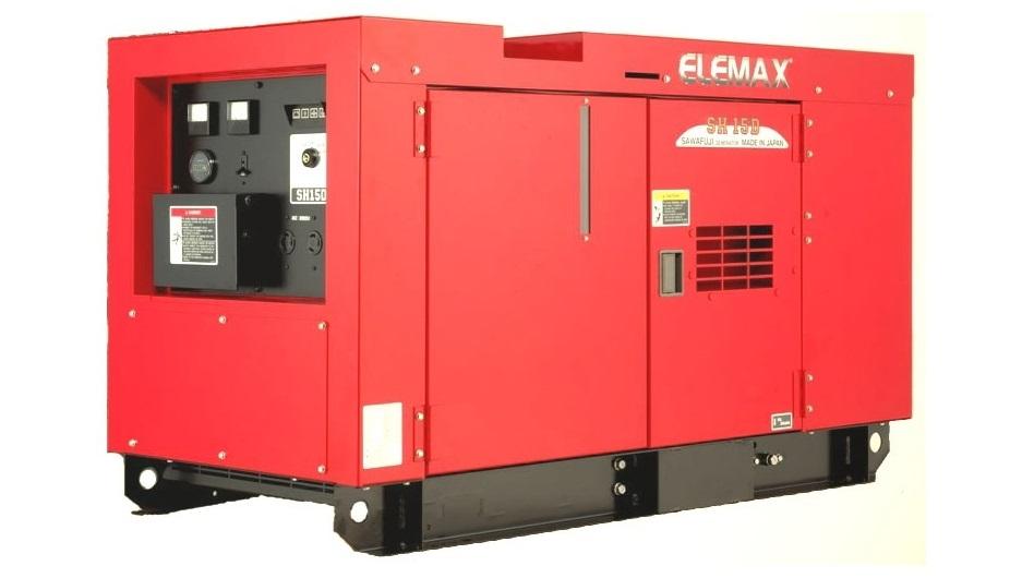 Máy phát điện công nghiệp chạy dầu 15KVA Elemax SHT15D 3 pha.