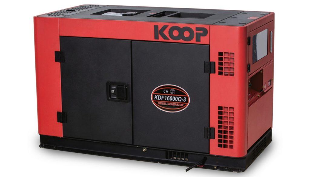 Máy phát điện 3 pha Koop KDF16000Q có tủ chống ồn.