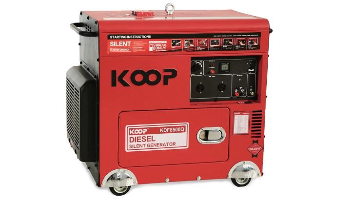 Máy phát điện chạy dầu chống ồn 6KVA Koop 8500Q.