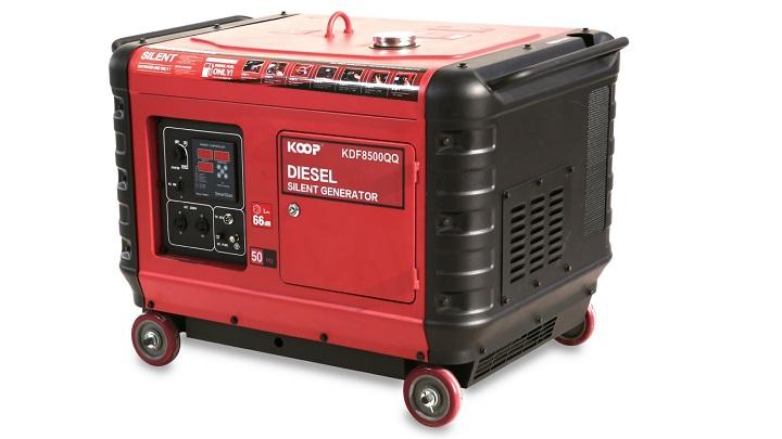 Máy phát điện siêu chống ồn Koop công suất dự phòng 6.0KVA và công suất liên tục 5.5KVA.