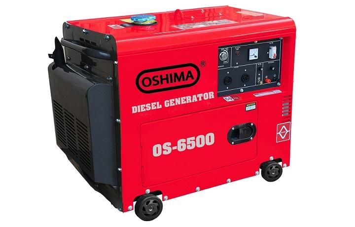 Máy phát điện chạy dầu chống ồn 5KW Oshima 6500